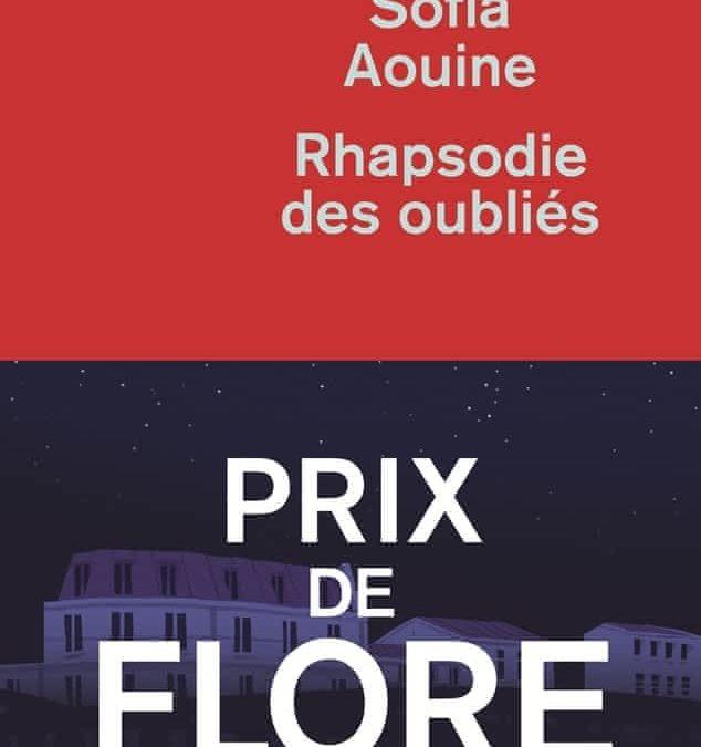 rhapsodie des oubliés- Sofia Aouine